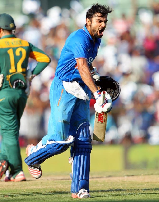Rediff Sports - Cricket, Indian hockey, Tennis, Football, Chess, Golf - Plethora of records for AB, Kohli! INTERESTING numbers from Chennai ODI