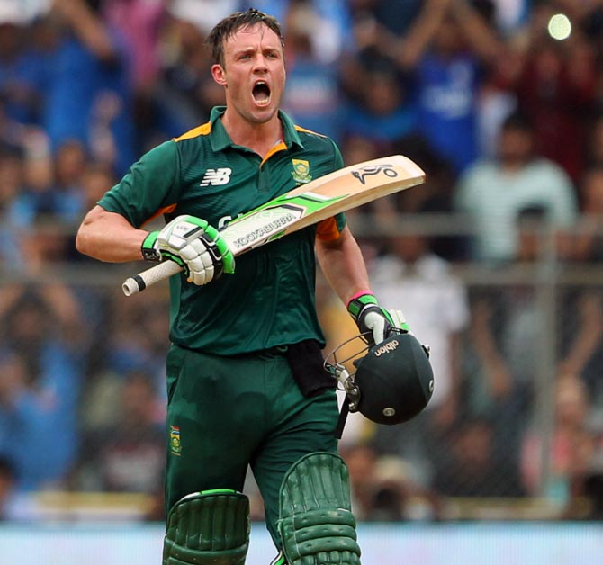 Rediff Sports - Cricket, Indian hockey, Tennis, Football, Chess, Golf - De Villiers on top as South Africans dominate MVP rankings