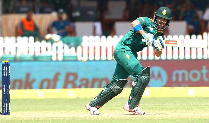 Rediff Sports - Cricket, Indian hockey, Tennis, Football, Chess, Golf - Pink Day ODI win motivates captain Duminy ahead of T20Is