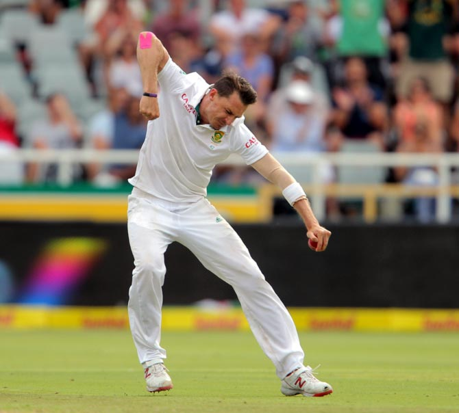 Dale Steyn says the pressure of going past Shaun Pollock's record of 421 wickets is 'like a bit of a burden now'