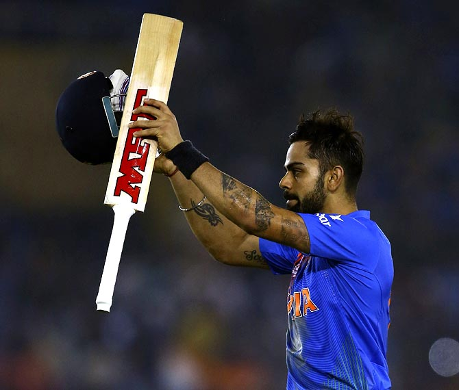 kohli named world t20 player of the tournament rediff com cricket