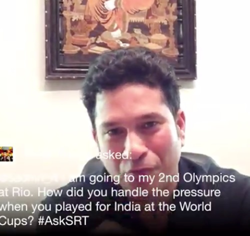 Sachin Tendulkar's words of encouragement for Rio-bound boxer