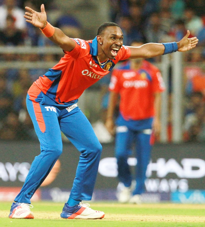 Rediff Cricket - Indian cricket - Injured Dwayne Bravo ruled out of entire IPL season