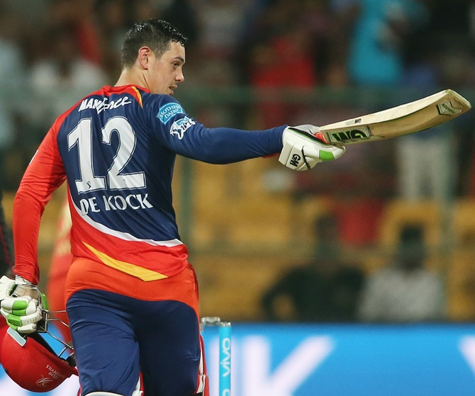Rediff Cricket - Indian cricket - Another blow for Delhi Daredevils, Quinton de Kock in doubt for IPL