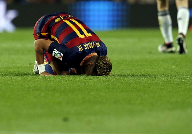 Rediff Sports - Cricket, Indian hockey, Tennis, Football, Chess, Golf - Neymar under scrutiny as Barca's campaign stutters
