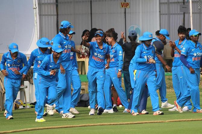 Rediff Sports - Cricket, Indian hockey, Tennis, Football, Chess, Golf - Women's T20 Asia Cup: India thrash Nepal by 99 runs