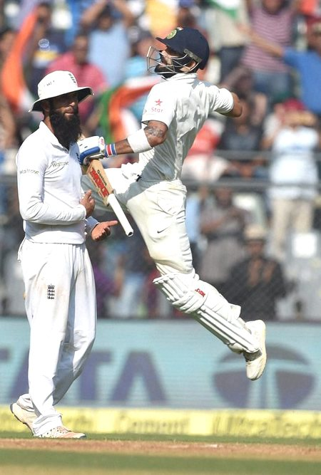 Rediff Cricket - Indian cricket - Run-machine Kohli matches Gavaskar, Dravid in record books