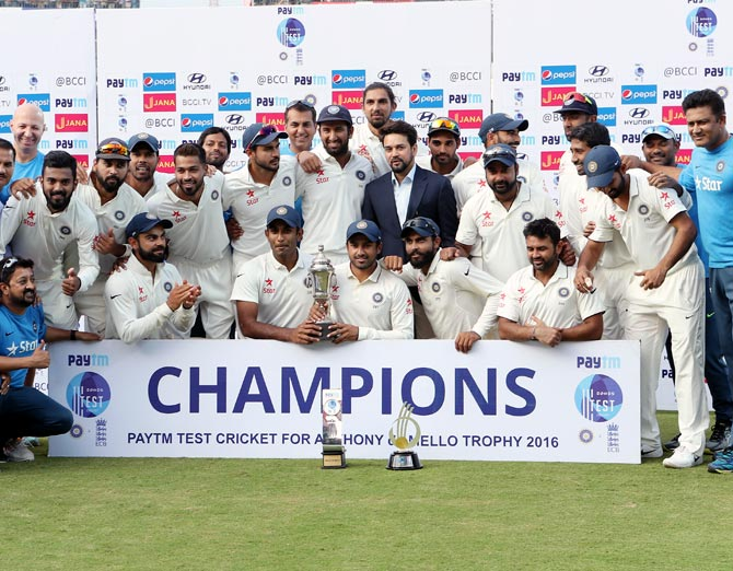 India Ends 2016 As World No 1 Test Team