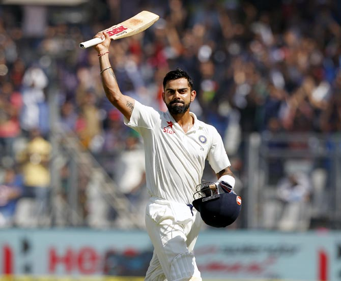 Rediff Cricket - Indian cricket - Kohli, Ashwin rule supreme as India pass the Test in 2016
