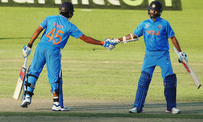 How Sachin-Sourav partnership inspires openers Dhawan-Rohit