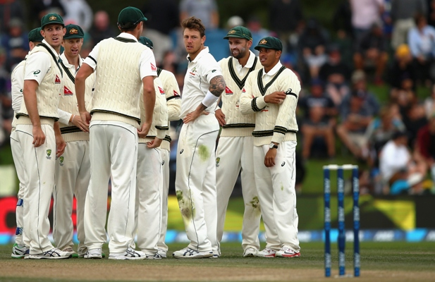 James Pattinson of Australia celebrates after taking the wicket