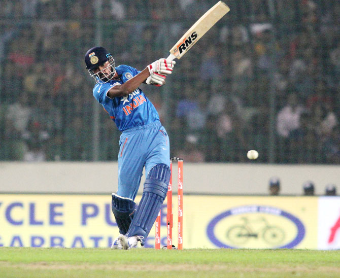 Hardik Pandya in action during his quick-fire innings