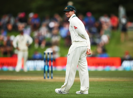Steve Smith of Australia looks on