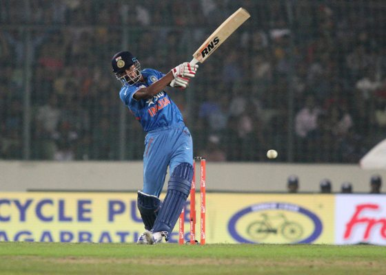 India's Hardik Pandya in action during his quick-fire innings