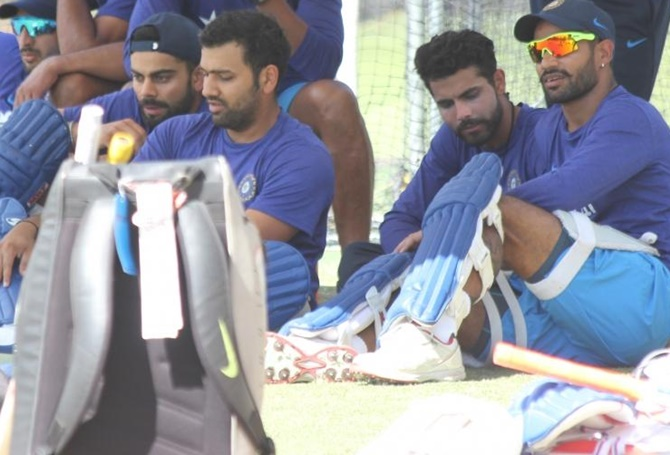 Indian players during a training session