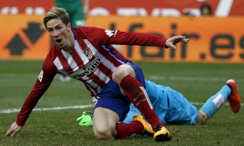 Rediff Sports - Cricket, Indian hockey, Tennis, Football, Chess, Golf - Torres reaches century, Atletico keep pressure on Barca