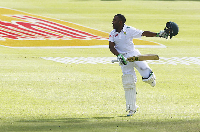 Rediff Cricket - Indian cricket - PHOTOS: Bavuma becomes first SA black man to hit Test ton