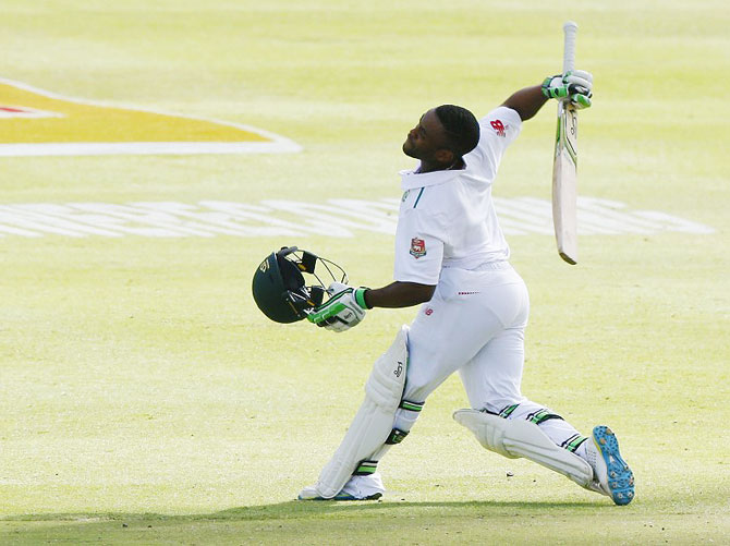Rediff Cricket - Indian cricket - England sledging pushes tiny Bavuma to smash maiden Test ton