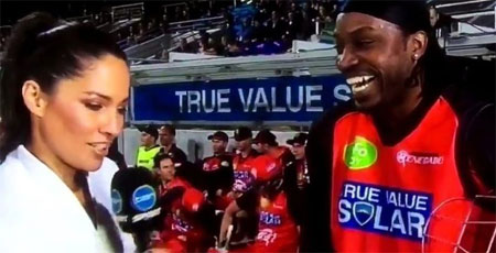 Chris Gayle and Mel McLaughlin