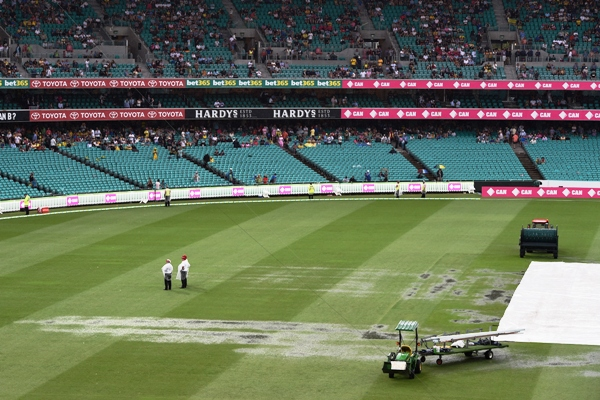 Sydney Test: Rain washes out play for second successive day