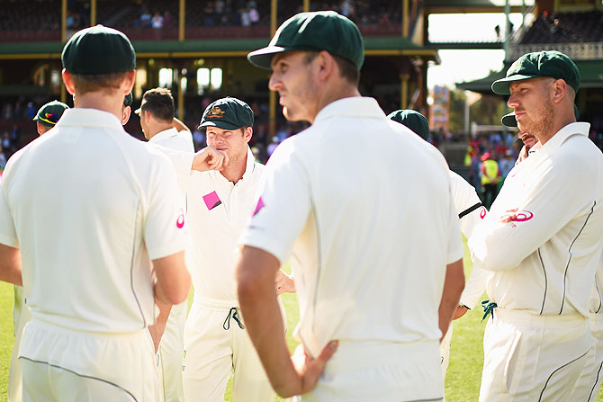 Rediff Cricket - Indian cricket - Sydney Test: Smith's offer for declaration rejected by Windies