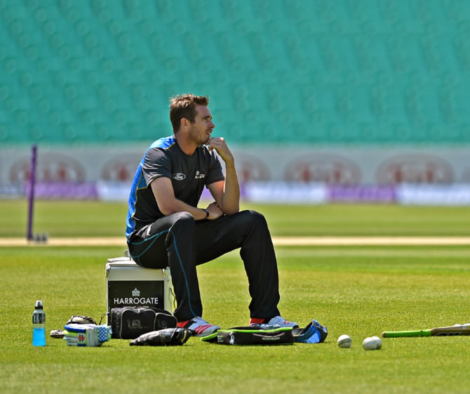 New Zealand fast bowler Tim Southee