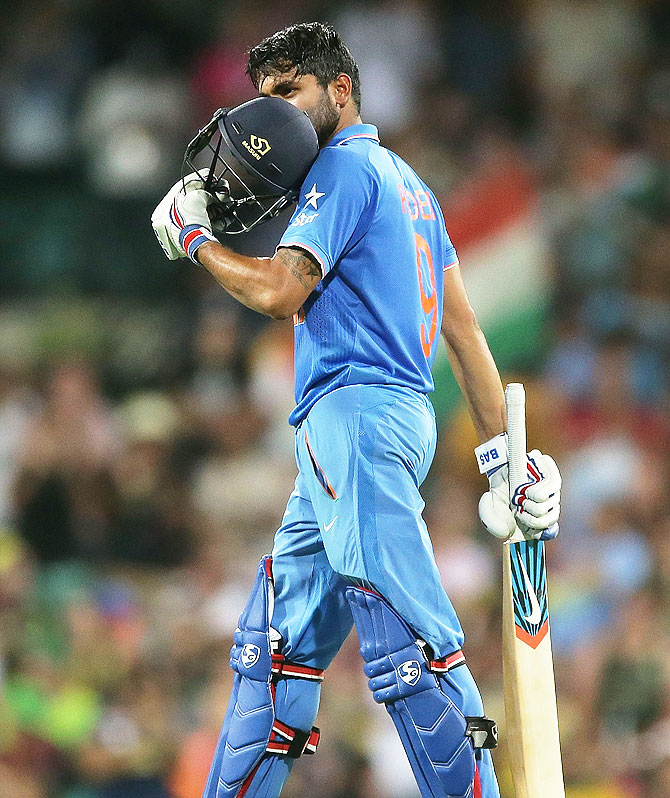 Rediff Cricket - Indian cricket - 5th ODI: Pandey's debut ton helps India avoid whitewash