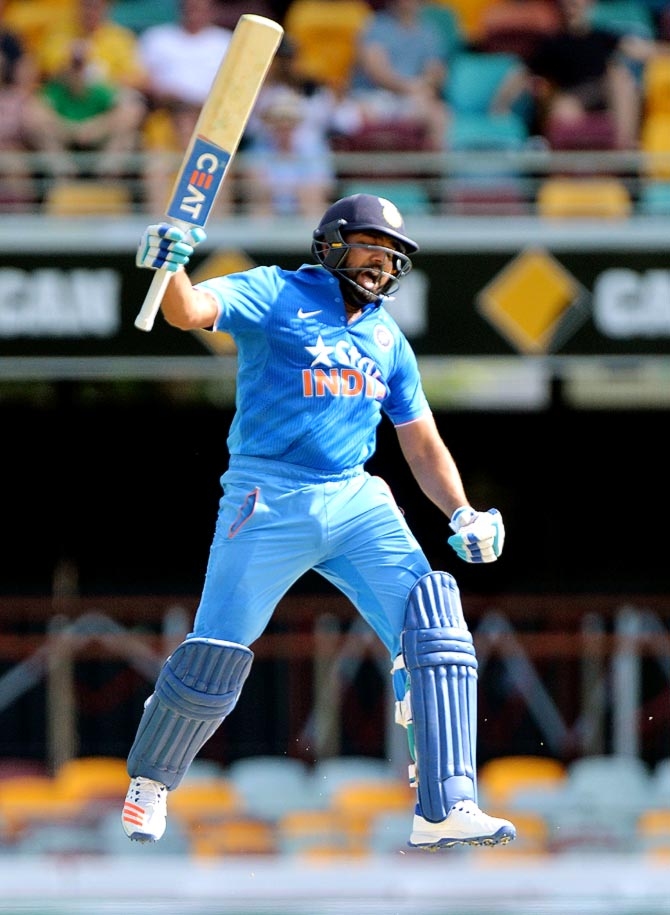 Rediff Sports - Cricket, Indian hockey, Tennis, Football, Chess, Golf - Run-machine Rohit is MVP of Australia-India ODIs