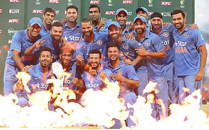 Rediff Cricket - Indian cricket - India script thrilling win to whitewash Australia in T20 series