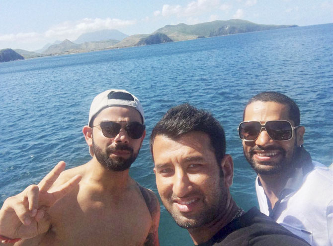 Rediff Cricket - Indian cricket - Team India's day off... and a bonding session to remember!