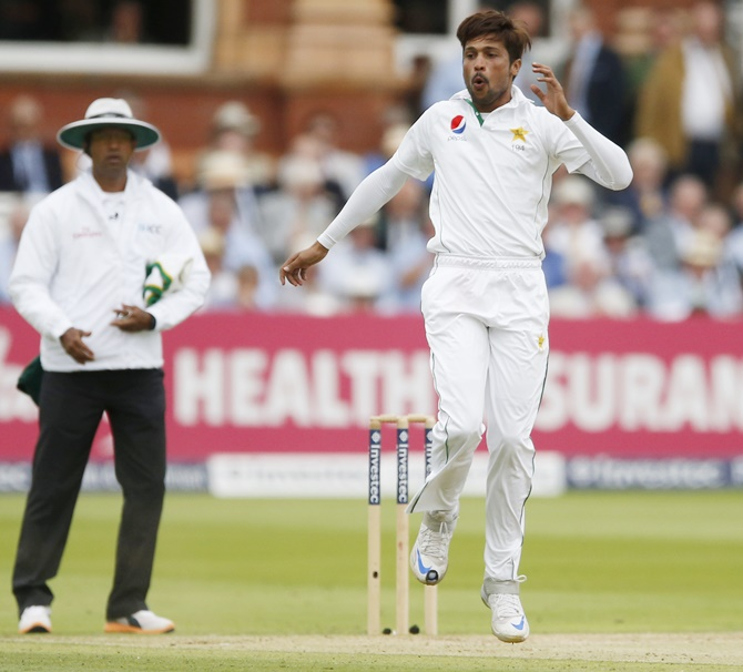 Rediff Cricket - Indian cricket - Mohammad Amir gets lukewarm reception on return to Lord's