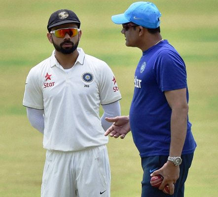 Rediff Sports - Cricket, Indian hockey, Tennis, Football, Chess, Golf - It's a winning start for Kohli-Kumble partnership