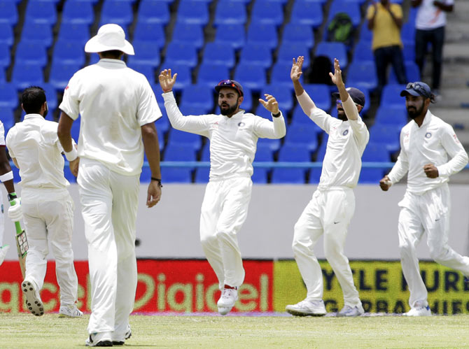 Rediff Cricket - Indian cricket - Records galore for India in first Test vs Windies