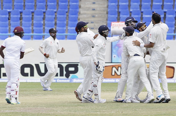 Rediff Sports - Cricket, Indian hockey, Tennis, Football, Chess, Golf - 1st Test PHOTOS: How India thrashed West Indies