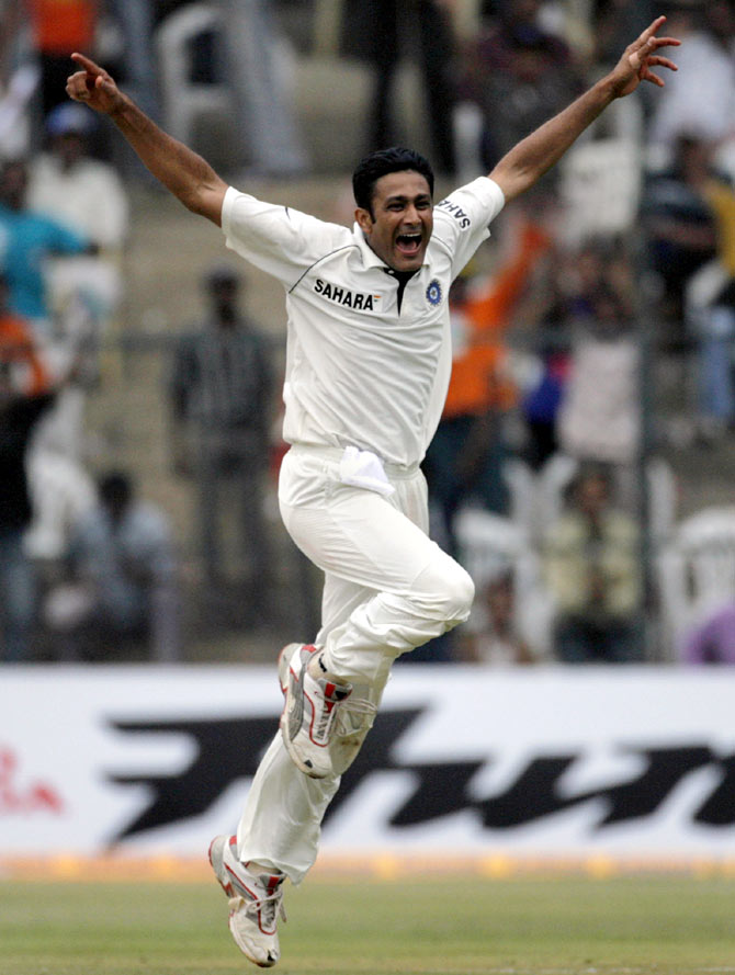 Rediff Cricket - Indian cricket - What a career Anil Kumble has had!