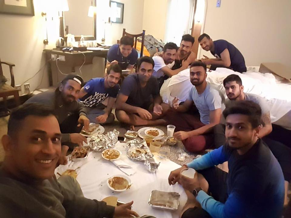 Dhoni S Down To Earth Team Dinner With His Young Guns