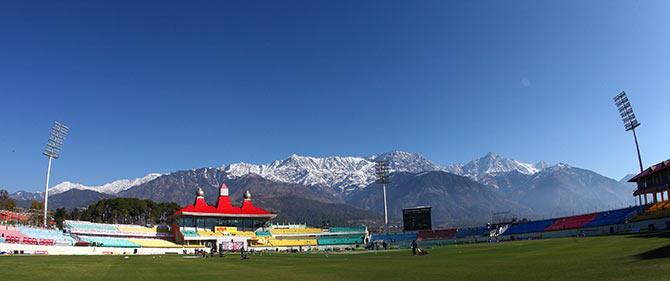 The HPCA Stadium in Dharamsala