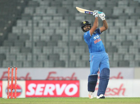 Rohit Sharma plays a shot during the Asia Cup