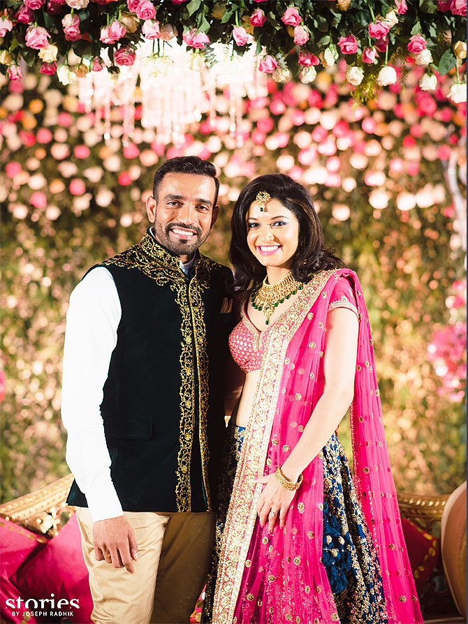 Mr And Mrs Utha At Their Wedding Reception