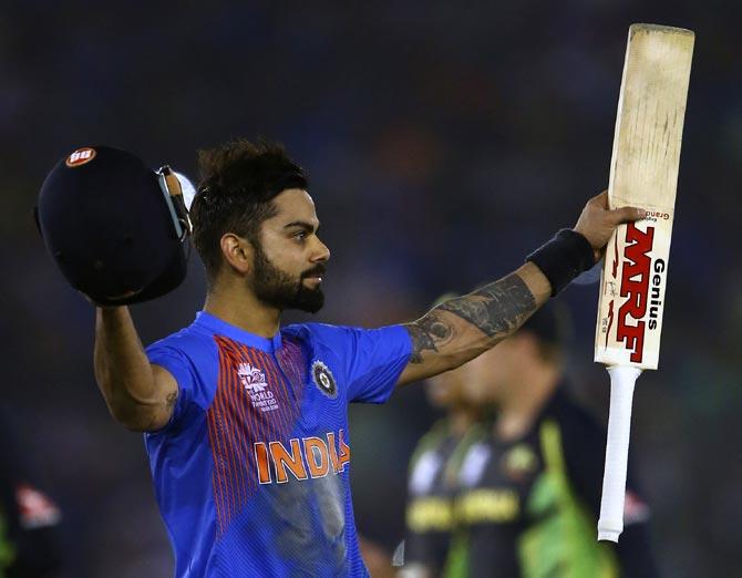 Rediff Sports - Cricket, Indian hockey, Tennis, Football, Chess, Golf - ICC ODI Rankings: Kohli maintains status quo, Root makes top five