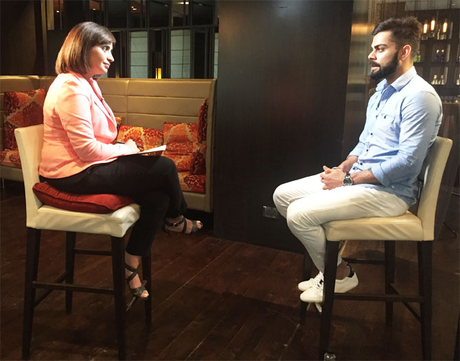 CNN Talk Asia host Mallika Kapur interviews Virat Kohli