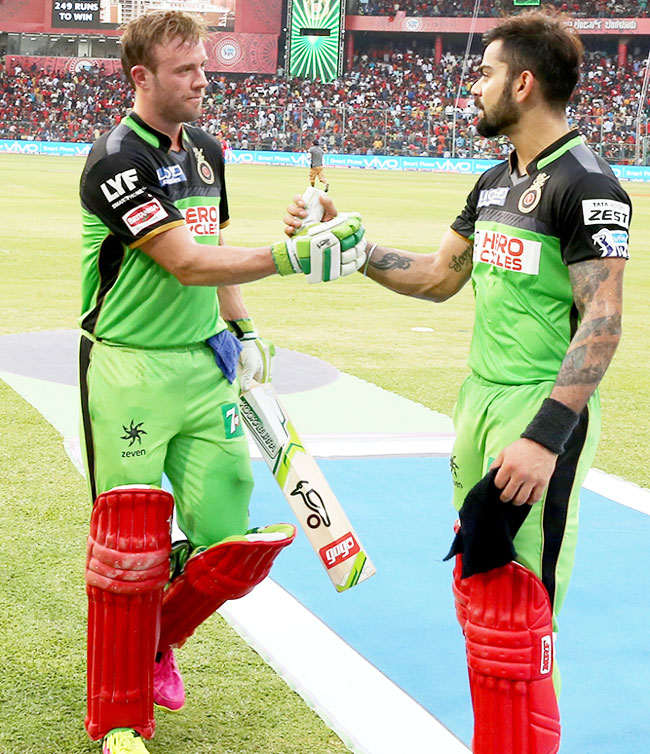 Rediff Cricket - Indian cricket - Gayle makes ultimate comparison: Virat-AB are like Batman-Superman