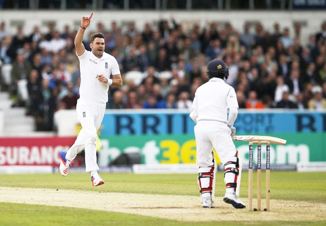 Rediff Cricket - Indian cricket - 1st Test: Anderson rips through Lanka batting to seal big England win