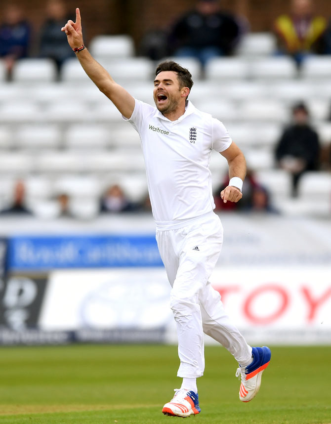 Rediff Sports - Cricket, Indian hockey, Tennis, Football, Chess, Golf - James Anderson breaks Glenn McGrath's record