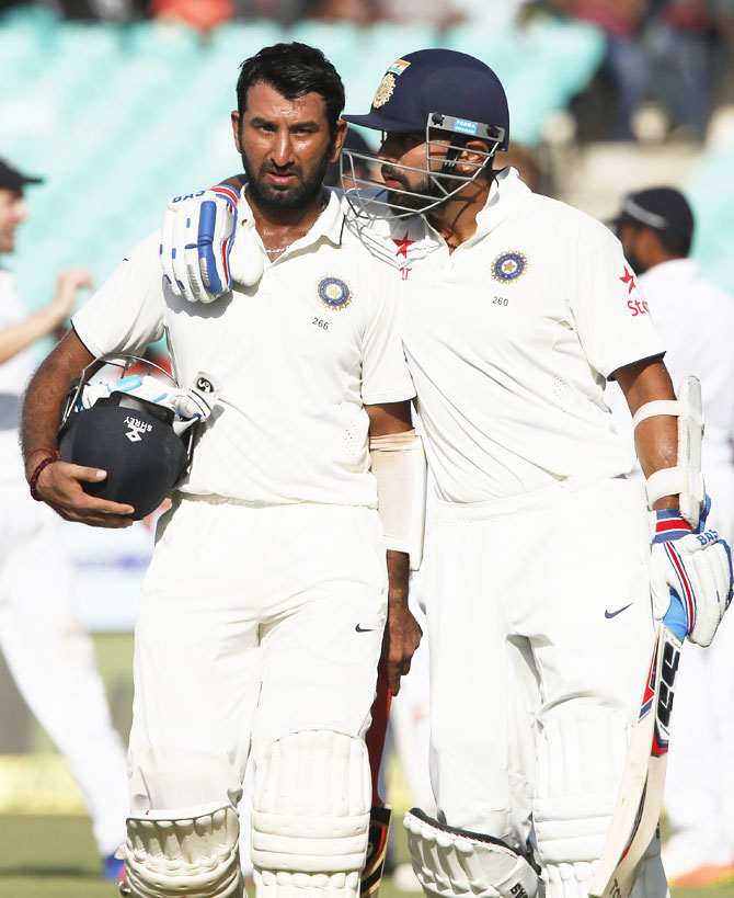 Rediff Cricket - Indian cricket - Stats: Vijay-Pujara partnership crosses 2000-run mark!