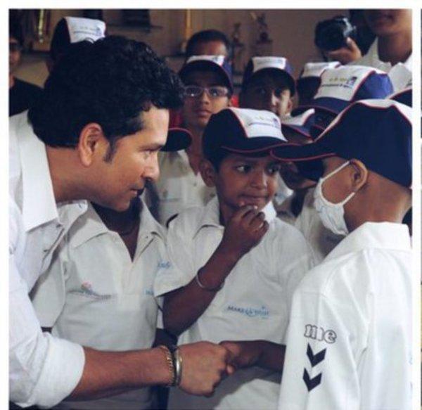 Tendulkar's special Children's Day celebration