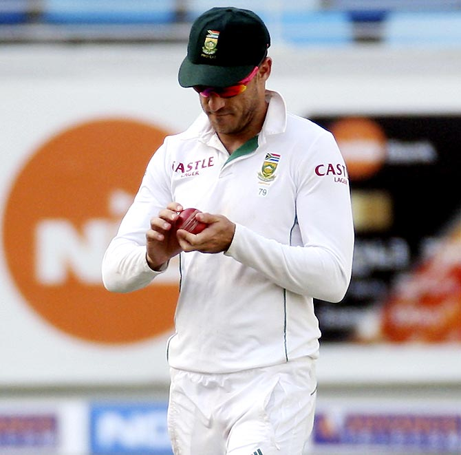 South Africa captain Faf du Plessis was charged for ball tampering during the match against Australia