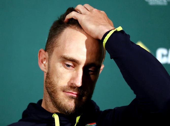 Rediff Cricket - Indian cricket - ICC disappointed at Du Plessis ball-tampering appeal
