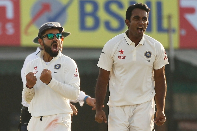 Rediff Cricket - Indian cricket - PHOTOS: Bowlers give India edge despite Bairstow's 89