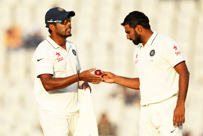 Rediff Cricket - Indian cricket - Mohali Test: How belief 'swung' things India's way on Day 1